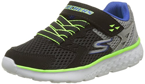 Skechers Boys' Go Run 400-Proxo Trainers, Black (Black/Charcoal), 3 UK 36 EU
