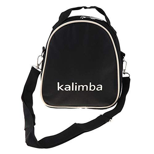 alsu3luy02Ld 17/15/10 Universal Kalimba Aufbewahrungstasche Daumen-Klavier Mbira Reißverschluss Soft Case, einfarbig, Schwarz