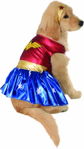 Official Pet Dog Cute Costume, Wonder Woman - Small to X-Large