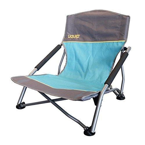 Strandstuhl bequemer Klappstuhl | extra stabile Ausführung bis 120kg | robustes 600D Rip-Stop Gewebe | extra breite Standfüße für weichen Boden | Packmaß nur 17x17x65cm | Uquip Sandy 244005