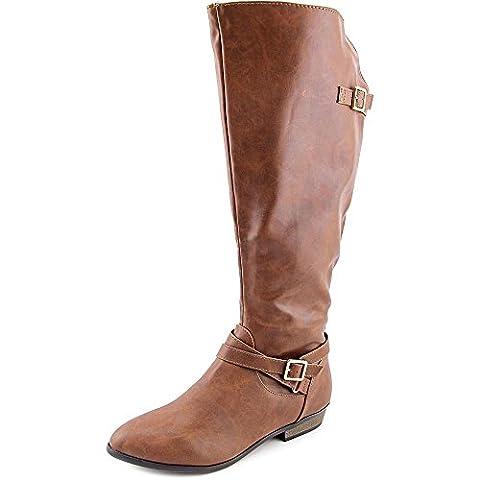 Material Girl Capri Wide Calf Women US 9 Brown Knee High Boot