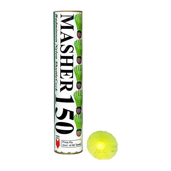 NCR Sports Masher 150 Nylon Shuttlecock standered Size(Pack of 10).Badminton Shuttlecock