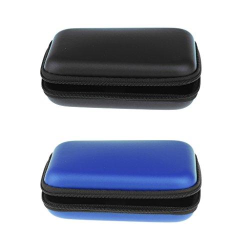 Sharplace Externe Festplattentasche bis 6,35 cm (2,5 Zoll) PU-Leder Aufbewahrungsetui Elektronik Zubehör Organizer-Stoßfest und Kratzfest