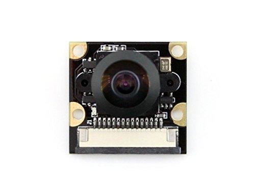 Waveshare Camera Module G Fisheye Lens Wider Field of View 5MP 1080p for Raspberry Pi3/2 Model B/A Fisheye-pin