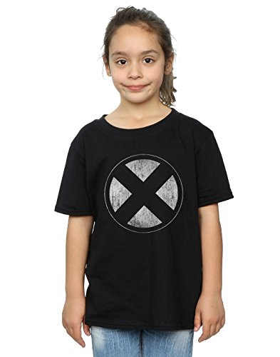 Marvel Mädchen X-Men Distressed Emblem T-Shirt 9-11 Years Schwarz -