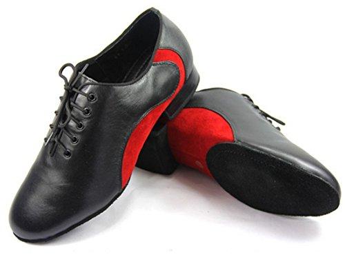TDA Herren Tanzschuhe schwarz-rot
