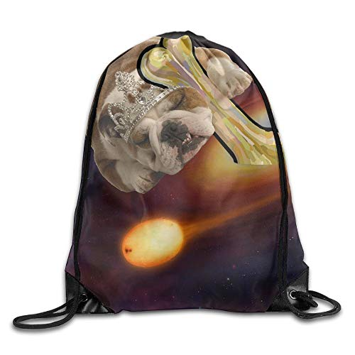 Naiyin Unisex Galactic Princess Dog Print Drawstring Backpack Rucksack Shoulder Bags Gym Bag Sport Bag