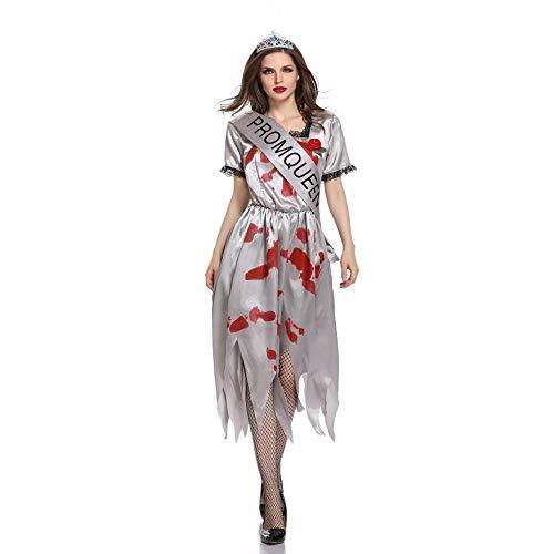 Yunfeng Hexenkostüm Damen Halloween-COS-Ghost Braut Tod blutige Hölle Göttin Bühne Spielen Kostüm (Todes Halloween Des Braut)