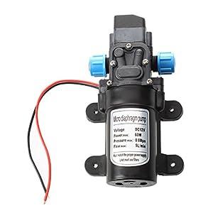 Bomba de agua – SODIAL(R)Negro DC 12V 60W Bomba de agua de diafragma micro de presion alta Automatico Apagar 5L / min