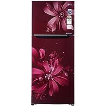 LG 260L 3 Star Frost Free Double Door Refrigerator (GL-Q292SSAY, Scarlet Aster, Inverter Compressor)