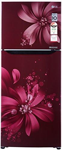LG 260 L 3 Star Frost-Free Double-Door Refrigerator (GL-Q292SSAY, Scarlet...
