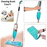 Getko With Device Multifunctional Microfiber Floor Cleaning Healthy Spray Mop with Removable Washable Cleaning Pad and Integrated Water Spray Mechanism (Blue, 46 x 16 x 10 cm)