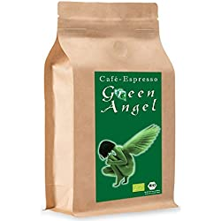 """C&T Bio Espresso/Cafe Kaffeebohnen""""Green Angel"""" 100% Arabica (Ganze Bohnen, 1000 g)   im Kraftpapierbeutel   Mittelkräftig ohne Säure"""