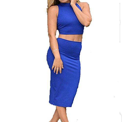 PU&PU Femmes / Cocktail Club Hollow Out Bodycon Robe, sans dos sans manches sans manches blue