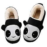 Girls Boys House Slippers Memory Foam Winter Kids Home Indoor Warm Panda Plush Shoes Anti Skid Women Men