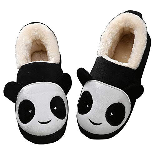 Girls Boys House Cute Cat Slippers Memory Foam Winter Kids Home Indoor Warm Panda Plush Cotton Shoes Anti Skid Women Men