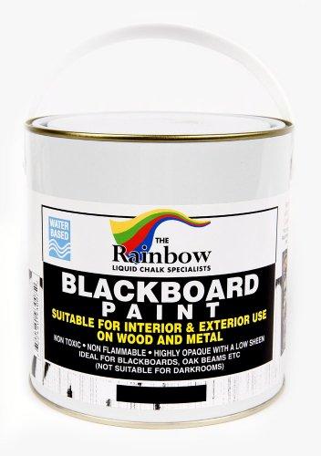 Tafelfarbe für Kreidetafel, Schwarz, 1 Liter