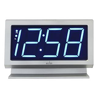 Acctim 14217 Labatt LED Silver Alarm Clock