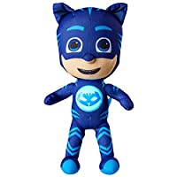 GoGlow PJ Masks Cat Boy Light Up Bedtime Pal-Soft Toy Night Light, Polyester Tricot Blue
