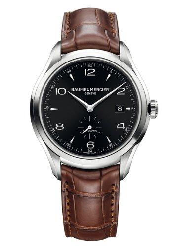 New Herren Baume & Mercier Clifton Stahl automatische schwarz Zifferblatt Armbanduhr - Baume Und Uhr Mercier Band