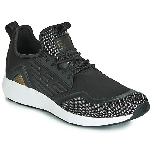 Emporio Armani EA7 MINIMAL Slip-ON U Sneaker Herren Schwarz - 40 - Sneaker Low