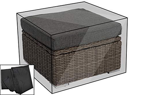 OUTFLEXX Premium Abdeckhaube für theBox Hocker 18362-4, schwarz, 73x73x43 cm, wasserbeständig, Schutzhülle Schutz-Haube Wetterschutz