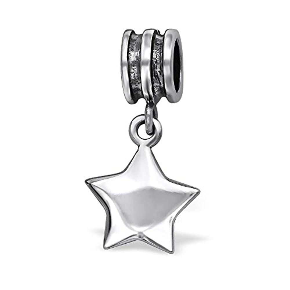 Baumelnden Star Charm Bead–für Pandora Armbänder–925Sterling Silber–Teil Größe: 11mm x 11mm–Inklusive Geschenkbox–Die Rose & Silver Company–rs0599
