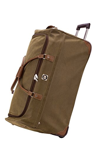Hauptstadtkoffer Tiergarten Trolley Reisetasche in Handgepäck oder Gr. XL in Lederoptik inkl. Kulturtasche (Braun 108 Liter)