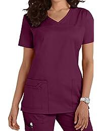 Damen Uniformen Schlupfkasack Gute Qualität V-Neck Top [ 20 Farben ]
