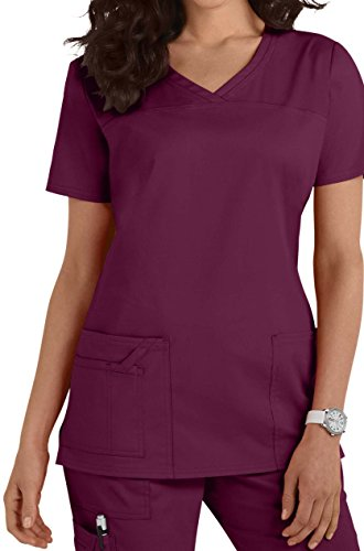 Women's V-Neck Top Smart 1122 (L [42-45], Wein [Wein])