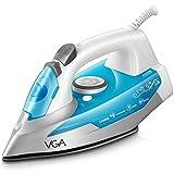 VGA Fer à Repasser 2400W - Fer à Vapeur - 300 ml - Bleu (anti-tartre, système anti-goutte, fonction d'auto-nettoyage)