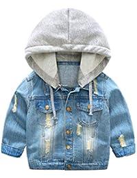 6137f4015c7 ARAUS Veste en Jean Manches Longue pour Enfants Manteau Automne d hiver  pour Enfant Coupe