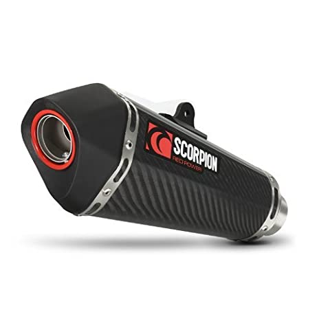 RYA90SYSCEO - Scorpion Serket Taper Carbon Oval Exhaust - Yamaha YZF R 125 Full System 08>Current