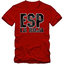 España Campeonato De Europa 2016 #3 Camiseta | T-Shirt | Fútbol | Hombre | Jersey | La Furia Roja | Equipo Nacional