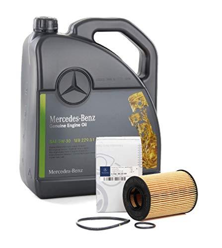 Recambios ORIGINALES Mercedes-Benz Aceite motor MB 229.51-5 litros + Filtro A2661800009 (