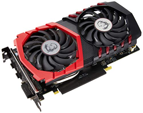 MSI NVIDIA GeForce GTX 1050 Ti Gaming X 4G Grafikkarte (GDDR5, HDMI, DP, DL-DVI-D, Afterburner OC, VR-Ready) schwarz (Geforce Grafikkarten 980)