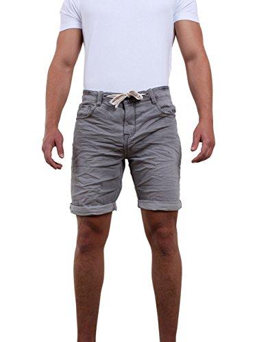 riverso Herren Stretch Jeans Shorts FRED Kurze Hose Sommer Bermuda Stretch Sweathose Baumwolle Schwarz Grau Blau Dunkelblau w30-w42, Größe:W 33, Farbe:Grey Denim (23000)