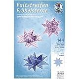 Ludwig Bähr Faltstreifen Fröbelsterne 120g/qm 1,5x60cm 144 Streifen 12 Papiersorten