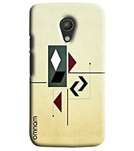 Omnam Arrow Pattern Printed Designer Back Cover Case For Moto G2