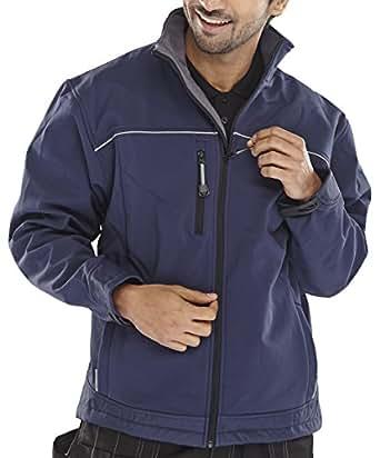 clickworkwear Softshell Veste bleu marine 4X L