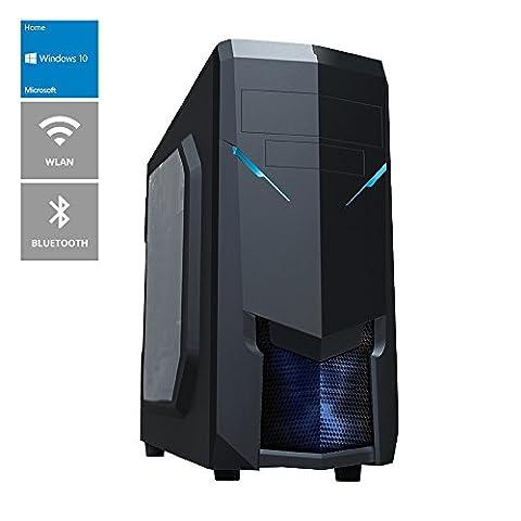 ONE Multimedia-PC Kabylake Core i5-7500, 4x 3.40 GHz (Quadcore) | 8 GB DDR4-RAM | 250 GB SSD & 2000 GB HDD | Gigabyte GA-B250M-D3H Mainboard | WLAN | Bluetooth | Cardreader | DVD-Brenner | 2048 MB NVIDIA GeForce GT 610, DVI, HDMI | 7.1 Sound | GigaBit-LAN| USB 3.0 | Windows 10 Home 64-Bit