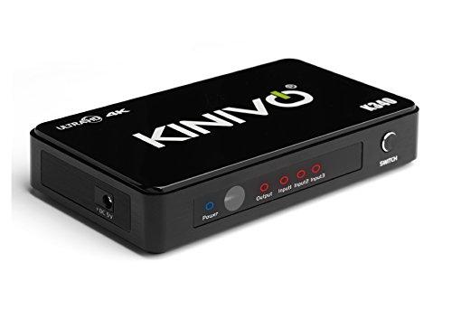 Ac Power Remote Adapter (Kinivo K340 Premium 3-Port High Speed 4K HDMI Switch mit IR Wireless Remote und AC Power Adapter - Unterstützt Auflösungen bis zu 4K UltraHD & 3D)