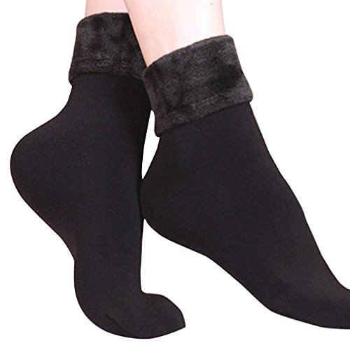 Socken DAY.LIN Wolle Kaschmir Frauen verdicken Thermo Soft Casual Solide Winter (Schwarz) (Kaschmir Leinen-strickjacke)