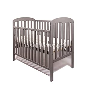 New Little Babes Ltd Mia Dropside Baby Cot Only (Grey)   6