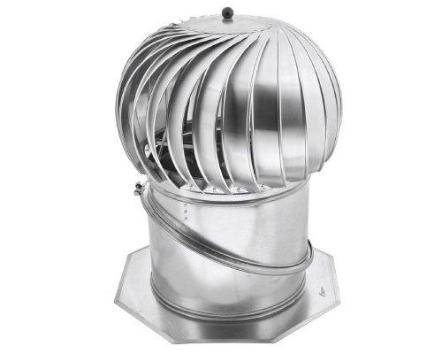En acier inoxydable Big Ventilation Cheminée Rotowent Base réglable 400mm