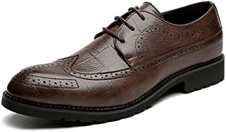 Ruanyi Leder Oxford Schuhe Männer  Klassische Lace up Breathable Formale Business Ausgekleidet Oxfords kausalenRuanyi Klassische Breathable Business Ausgekleidet