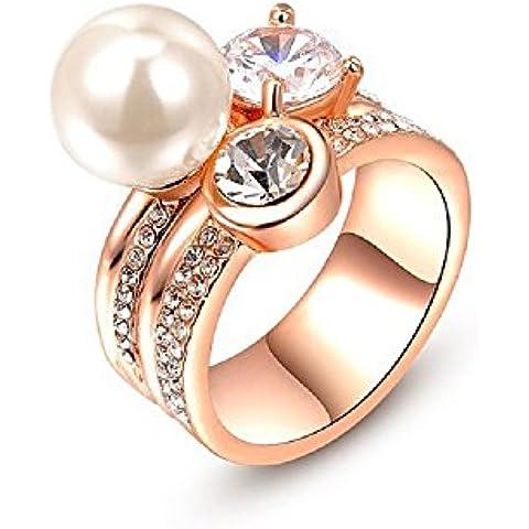 bmall 18K Rosa placcato oro e perla