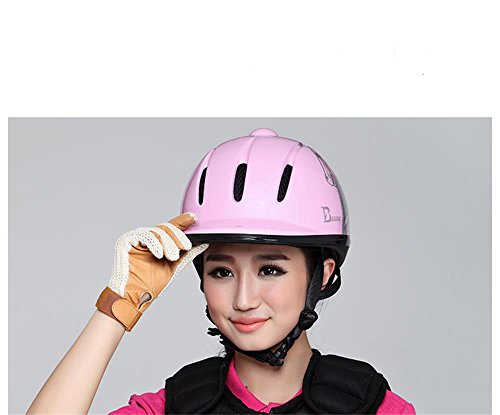 cavallo di colore rosa del cappello di equitazione casco cavaliere per apparecchiature di bambini signora Helm ( dimensioni : 61 centimetri )