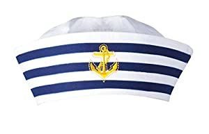 Boland 44355 - Sombrero de adultos Navy marinero, Einheitsgröߟe, weiߟ