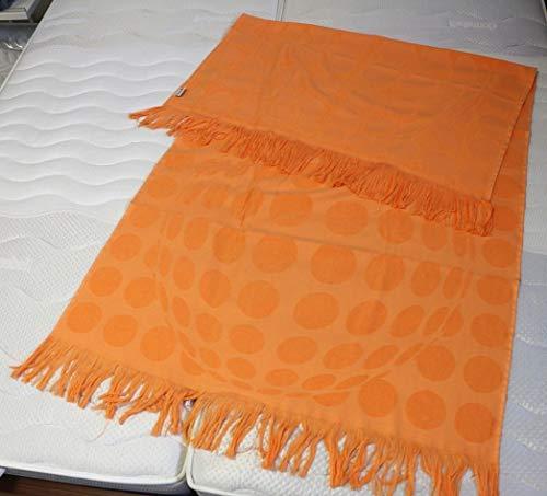 Strandtuch Saunatuch Hamamtuch Wellnesstuch orange 100x180 cm
